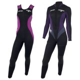 Conjunto Narwhal Feminino 3/5/7mm Front Zip - Spring ML + Long John